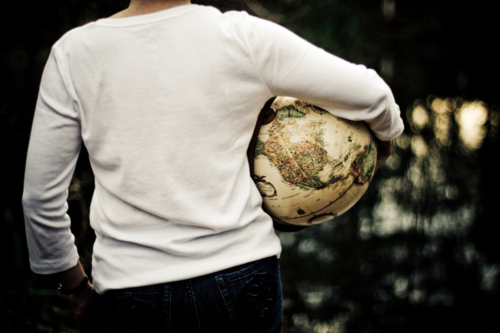 public-domain-images-free-stock-photos-woman-earth-globe-white-short-outdoors-water-reflection-1000x666